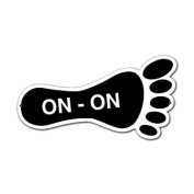 Past Time Signs PS007 On-On Foot Sports And Recreation Custom Metal Shape