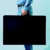 Jack Richeson Durable Heavy Duty Light-Weight Economy Portfolio - 60cm x 60cm . - Black