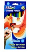 Prang 7 in. Non-Toxic Pre-Sharpened Coloured Pencil Set 3.3 mm. Smooth Tip Set - 12