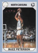 Buzz Peterson Basketball Card (North Carolina) 1990 Collegiate Collection No.13