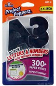 Art Supplies E3069 6.4cm . Black Letters & Numbers