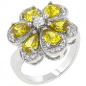 Icon Bijoux R08074R-C61-05 Yellow Floral Ring (Size