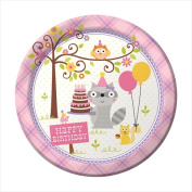 Creative Converting 425671 Happi Woodland - Girl 23cm . Dinner Plates - Case of 96