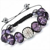 Best Desu 17082 Shambala-Style Crystal Bracelet Blue Violet