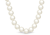 Fine Jewellery Vault UBNKBK7046FWWH 14K Gold Clasp with 12MM Round Mother of Pearl Strand Necklace 16 in. Long