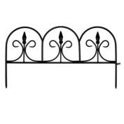 EmscoGroup 2083HD Resin Victorian Fleur De Lis Garden Fence 5.5m