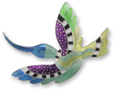 Zarah 20-06-Z2 Hummingbird Radiance Ultrafine Silver Plate Pin