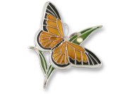 Zarah 21-05-Z2 Monarch Butterfly Ultrafine Silver Plate Pin