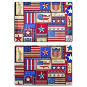 DecalGirl MSP3-FLAGPWORK Microsoft Surface Pro 3 Skin - Flag Patchwork