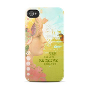 DecalGirl AIP4CC-SEEBEL Apple iPhone 4 Clip Case - See Believe