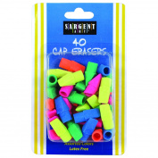 Sargent Art Inc. SAR361015 40Ct Assorted Colour Cap Eraser