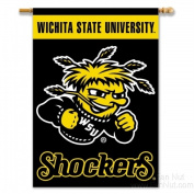 BSI Products 96090 Wichita State Shockers 2-Sided Banner With Pole Sleeve