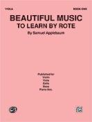 Alfred 00-El02725 Beautiful Music To Learn 1 Vla Book