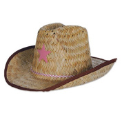 Beistle 50160-P Child Cowboy Hat With Star & Chin Strap Pack Of 96
