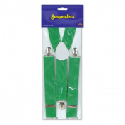 Beistle Company 60805-G Green Suspenders - Pack of 12