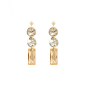 Monella Earrings - 925/1000 Rhodium-Plated with. Elements-White and ambrées