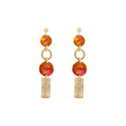 Monella Earrings - 925/1000 Rhodium-Plated with. Elements-Red and White
