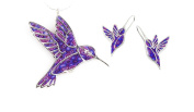 Hummingbird Necklace and Earring Set - Handcrafted Exquisite Jewellery in 925 Silver