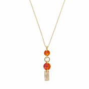 Monella Necklace Silver 925/1000 Rhodium-Plated with. Elements-Amber