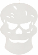 infactory Glow-In-The-Dark Halloween-Themed Skull, 26 x 19 CM