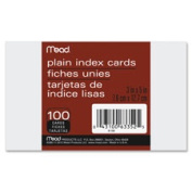 Mead MEA63008 Index Cards Ruled 13cm . x 20cm . 100-PK White