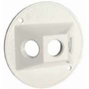 Bell Weatherproof 5197-1 Weatherproof Round Cover 8.9cm . Outlet White