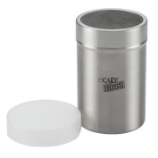 Cake Boss 50627 Stainless Steel Tools And Gadgets 1-Cup Powdered Sugar Shaker With Plastic Lid