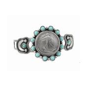 UPM Global LLC 12421 Silver Walking Liberty Half Dollar Cuff Bracelet
