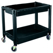 ATD Tools ATD-7016 Heavy-Duty Plastic 2-Shelf Utility Cart