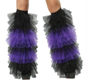 Costumes for all Occasions FW90215PR Boot Covers Tulle Ruffle Blac