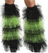 Costumes for all Occasions FW90215GR Boot Covers Tulle Ruffle Blac