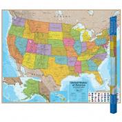 Round World Products RWPHM02 Hemispheres Laminated Map United
