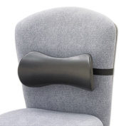 Safco Products 7154BL Lumbar Support Memory Foam Backrest 14-1/2w x 3-3/4d x 6-3/4h Black