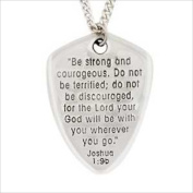 Bob Siemon Designs 817905 Necklace Shield Of Faith Cross With 60cm . Chain Carded