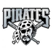Caseys Distributing 8162053233 Pittsburgh Pirates Silver Auto Emblem