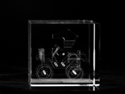 Asfour Crystal 1166-60-113 2.4 L x 2.4 H x 2.4 W in. Crystal Laser-Engraved Classic Car Transportation Laser-Cut