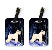 Carolines Treasures SS8386BT Pair of 2 Starry Night Wheaten Terrier Soft Coated Luggage Tags