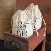 Hortense B Hewitt 31015 Cotton Favour Bags - Best Day Ever