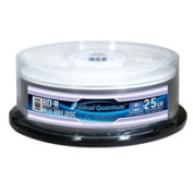 Optical Quantum OQBDR06WTP 25 Pack 6X 25GB BD-R Blu-ray Blank Disc White Thermal Hub Printable