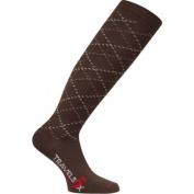 Travelsox TS 5000 Patented Graduated Compression OTC Socks 10-18 Mmhg Brown - Large