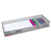 YBM Home 1611 Mesh Drawer Organisers Silver 38cm x 15cm