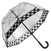 Elite Rain Frankford RF01-PL Premium Fibreglass Bubble Umbrella Plaid Trim
