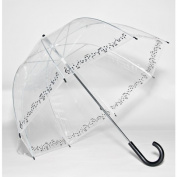 Elite Rain Frankford RB01-SY Clear Printed Bubble Umbrella Symphony