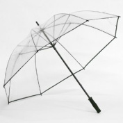 Elite Rain Frankford GC01-BLK Clear Golf Umbrella Black Trim