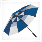 Elite Rain Frankford GF01-NW Fibreglass Golf Umbrella Navy and White
