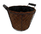 Cheungs FP-3371L Coco Lined Wire Decorative Pot with 2 Ears