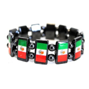 Bulk Buys Magnetic Mexican Flag Stretch Bracelet - Case of 120