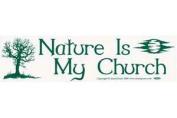 AzureGreen EBNAT Nature is My Church Bumper Sticker