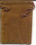 AzureGreen RV34BR 7.6cm . x 10cm . Bag Velveteen - Brown