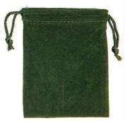 AzureGreen RV34GR 7.6cm . x 10cm . Bag Velveteen - Green